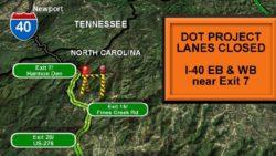 laneclosure e1469661975224 I 40 Lane Closures Between NC and TN
