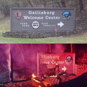 gatlinburgsignburned 300x300 Gatlinburg Fire Damage Reports